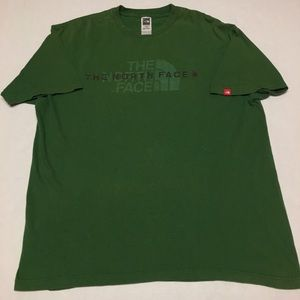 Vintage the north face spell out logo t shirt